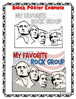 Mount Rushmore Collaborative Poster!  President's Day - Team Work Activity