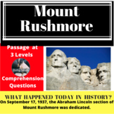 Mount Rushmore Differentiated Reading Passage September 17
