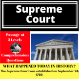 The Supreme Court Differentiated Reading Passage September 24