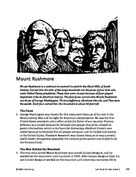 Mount Rushmore - Informational Text Test Prep