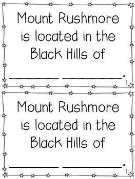 Mount Rushmore Mini-Books