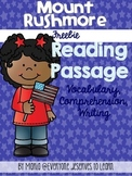 Non-Fiction Mount Rushmore Reading Passage Vocabulary and Comprehension