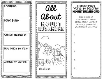 Mount Rushmore Research Project Brochure Template, Geography, History