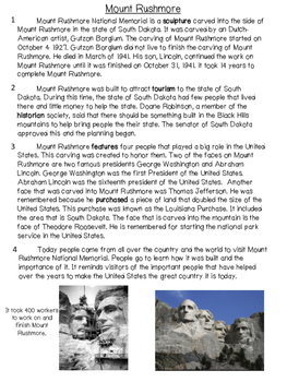 Mount Rushmore Text