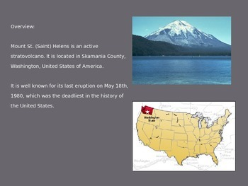 Mount Saint St. Helens - Power Point - Information History Facts Pictures