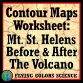 Mount St. Helens - NGSS Topographic & Contour Map Practice Worksheet