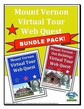 Mount Vernon Virtual Tour Web Quest BUNDLE PACK