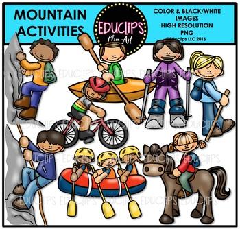Mountain Activities Clip Art Bundle {Educlips Clipart}