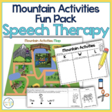 Mountain Activities Speech Therapy Theme Fun Pack | Outdoo