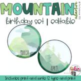 Mountain Adventure Decor - Birthday Set [Editable]