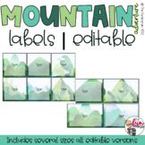 Mountain Adventure Decor - Plastic Pocket Labels [Editable]