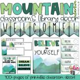 Mountain Adventure Decor Set - Editable - 275+ Pages
