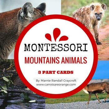 Montessori Animals of the Mountains 3 Part Cards