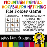 Mountain Animal Vocabulary Folder Game for Students with Autism & Special Needs