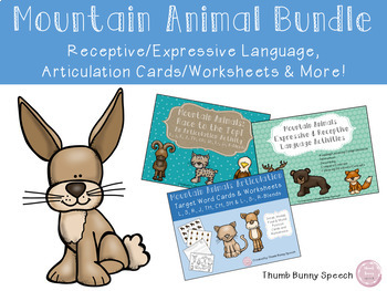 Mountain Animals Bundle - Receptive/Expressive Language, Articulation & More