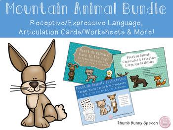 Mountain Animals Bundle - Receptive/Expressive Lang, Artic