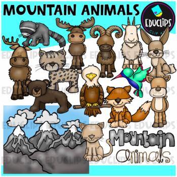 Mountain Animals Clip Art Bundle {Educlips Clipart}