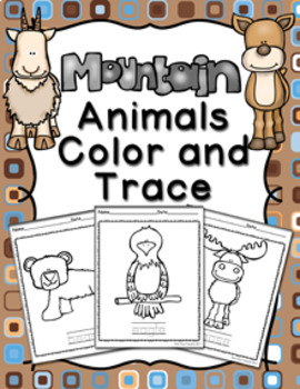 Mountain Animals Color and Trace