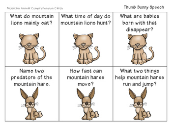 Mountain Animals: Expressive & Receptive Language Activities