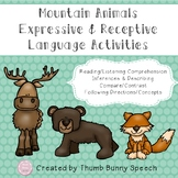 Mountain Animals: Expressive & Receptive Language Activities
