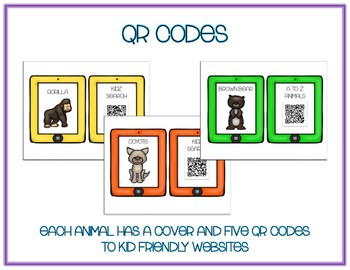 Mountain Animals  - Research w QR Codes, Posters, Organizer - 12 Pack