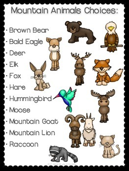 Mountain Animals {Researching & Presenting} Using QR CODES