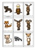 Mountain Animals themed Memory Match Game. Printable Preschool Game