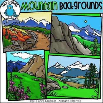 Mountain Background Scenes Clip Art - Chirp Graphics