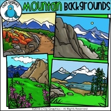 Mountain Background Scenes Clip Art - Chirp Graphics