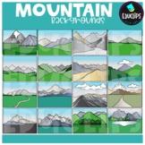 Mountain Backgrounds Clip Art Set {Educlips Clipart}