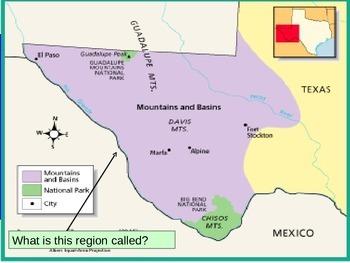 Mountain & Basin Region Editable