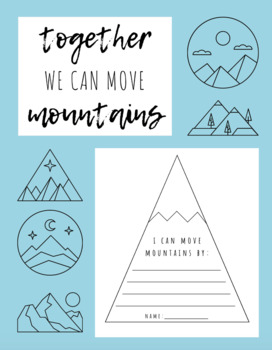 """Mountain Bulletin Board Theme - """"Together we can move mountains"""""""