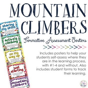 Formative Assessment Mountain Climbers By Rd Grade Thoughts  Tpt