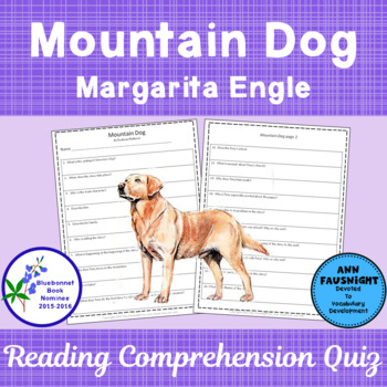 Mountain Dog: A Reading Comprehension Quiz