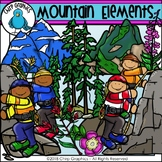 Mountain Elements Clip Art - Chirp Graphics