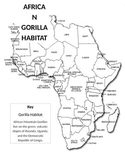 Mountain Gorilla Habitat Map and Key Activity