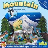Mountain Habitat Activity Craft | Himalayas Animal Habitat Diorama Project
