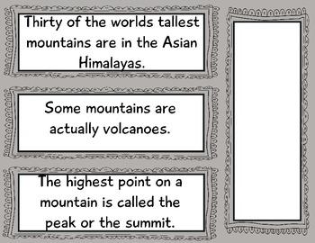 Mountain Habitat Anchor Chart: animals, facts +