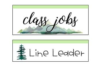 Mountain Job Chart