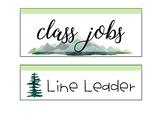 Job Chart - Mountain Themed
