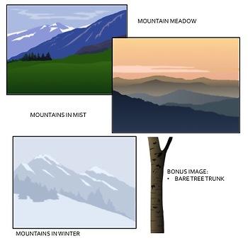 Mountain Landscape Background Clip Art