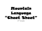 "Mountain Language ""Cheat Sheet"""