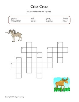Mountain Mammals Activity Fun