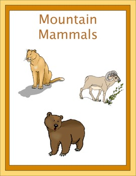 Mountain Mammals Thematic Unit