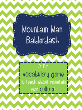 Mountain Man Vocabulary Game