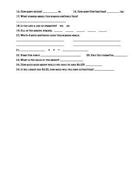 Mountain Math EDITABLE Activity Page - 3rd Grade