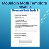 Mountain Math Template Grade 6