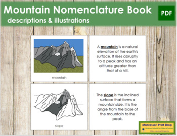 Mountain Nomenclature Book