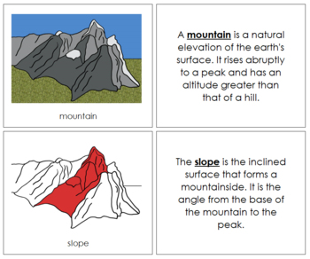 Mountain Nomenclature Book (Red)