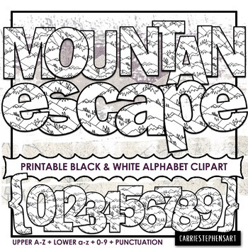 Mountain Printable Bulletin Board Letters | Alphabet ClipArt PNG